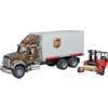 U02828 Mack Granite UPS mit Wechselbrücke und Mitnahmestapler