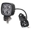 Work light LED, 12W, 800lm, square, 10/30V, 81x80mm, Flood, Kramp