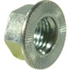 Self-locking hexagonal nuts with serrated flange, verbus hex serrated metric, class 10 zinc-plated