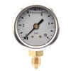 Pressure gauge bottom connection, 40 mm, stainless steel, filled with glycerine