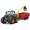 Fendt 1000 Vario-traktor med anhænger