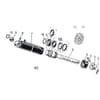 12 Cylindre de roue arrière HSRT, HSRS