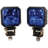 Work light LED 2x set, 9W, 1000lm, square, 10/30V, blue, 90x Deutsch plug, 4 LED's, Kramp
