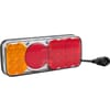 Multifunction rear light LED, rectangular, 12-24V, 200.5x85x40mm, 5-pin, Kramp