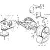 Antrieb - Getriebe für Castelgarden TYP F72 Hydro - Baujahr 2001