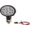 Work light LED, 24W, 1920lm, oval, 10-30V, white, 140x70x70mm Deutsch plug, Flood, 8 LED's, Kramp