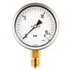 Pressure gauge bottom connection, 100 mm, stainless steel, filled with glycerine