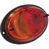 Rear light round, 12/24V, red/amber, bolt on, 165x Deutsch plug, Hella