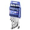 E111137 set of 12 deep, combination ratchet spanners, metric
