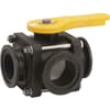 Banjo 3-way ball valves with flange coupling