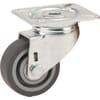 Lenkrollen mit Plattenbefestigung und Rad mit Gummilauffläche 40-100Kg
