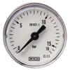 Plastic pressure gauge rear connection, 40 mm