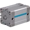 DW compactcilinder DIN ISO 21287 met binnendraad en magneet - boring Ø16mm