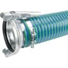 """PVC suction and delivery hose blue/green 6"""" complete with Female/Male connections Bazzoli"""