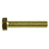 DIN 933 hexagonal screws with full thread, metric, brass