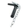 Handle locking hitch pin