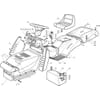 Karosserie für Castelgarden TC - 102-122 / 102-122 Hydro - Bj. 2002