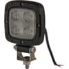 Work light LED, 20W, 2200lm, square, 10-80V, Flood, Kramp