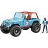 U02542 Jeep blau mit Fahrer