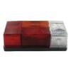 Rear light rectangular, 12/24V, red/orange/white, bolt on, 210x66x108mm, Hella