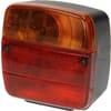 Rear light RH square, 12/24V, red/amber, bolt on, 105x100x52mm, Ajba