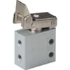3/2-way micro-toggle lever actuated valve, monostable, spring return