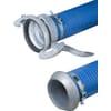 """PVC zuig- en persslang blauw/rood 6"""" compleet met KKM/KKV koppelingen Perrot"""