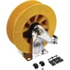 Wall hose reel with plactic reel
