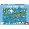 SH56118 World map jigsaw