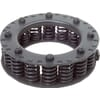 Friction clutches with compression springs components