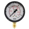 Plastic pressure gauge bottom connection, 63 mm, filled with glycerine