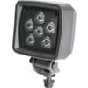 Work light LED, Heavy Duty, 36W, 3000lm, square, 12-100V, 98x102x80mm Deutsch plug, Flood, 6 LED's, Kramp