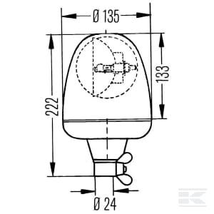 12V//24V Cable: 150mm LED HELLA 2XD 455 255-001 Strobe-type Beacon K-LED Rebelution Lens Colour: Yellow Quantity: 1