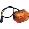 Indicator light rectangular, amber, bolt on, 88x56x59mm Deutsch plug, Cobo