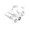 Kultivátor Kongskilde - oporné koleso VF 2000-4000-4200-4300 Vibroflex