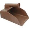 Polypropylene feeding scoop, brown