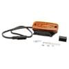 Marker light LED, rectangular, 24V, orange, bolt on, 110x34x51mm