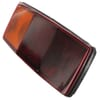 Rear light LH rectangular, 12V, red/orange, bolt on, 344x147mm, Hella
