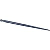 Loader tine, straight, star section 45x1250mm, pointed tip with M28x1.5mm nut, blue, FST