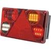 Multifunction rear RH light LED, rectangular, 12-24V, 232x142x59mm, 5-pin, Kramp