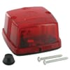 Rear light square, 12/24V, red, bolt on, 84x51x84mm, Hella