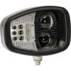 Headlight LED, LH heavy duty, 22/32W, rectangular, 12-24V, 240x127x164mm, Deutsch 6-pin, Heated, High beam/Low beam, Kramp