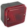 Fog light square, 12V, red, 85x52x75mm, gopart
