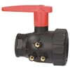 2-way ball valve, series 455 with raised lever