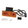 Marker light LED, rectangular, 12/24V, orange, bolt on, 120x43x48mm