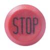Nyomógomb, Stop, kerek, piros