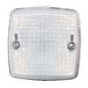 Marker light 5W, square, 12/24V, transparent/white, bolt on, 84x51x84mm, Blade terminal, Hella