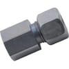 Straight female stud coupling GAV-Metric