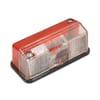 Marker light rectangular, 24V, red/white, bolt on, Hella