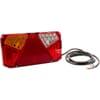Multifunction rear LH light LED, rectangular, 12-24V, 242x134x36.5mm, Kramp